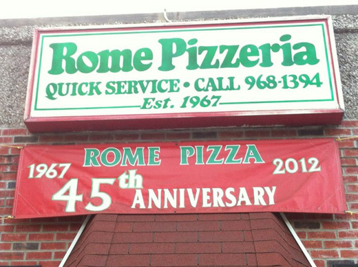 Rome Pizza - 45 years!
